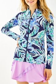 Lilly Pulitzer Luxletlic Hadlee Zip-Up - Front cropped