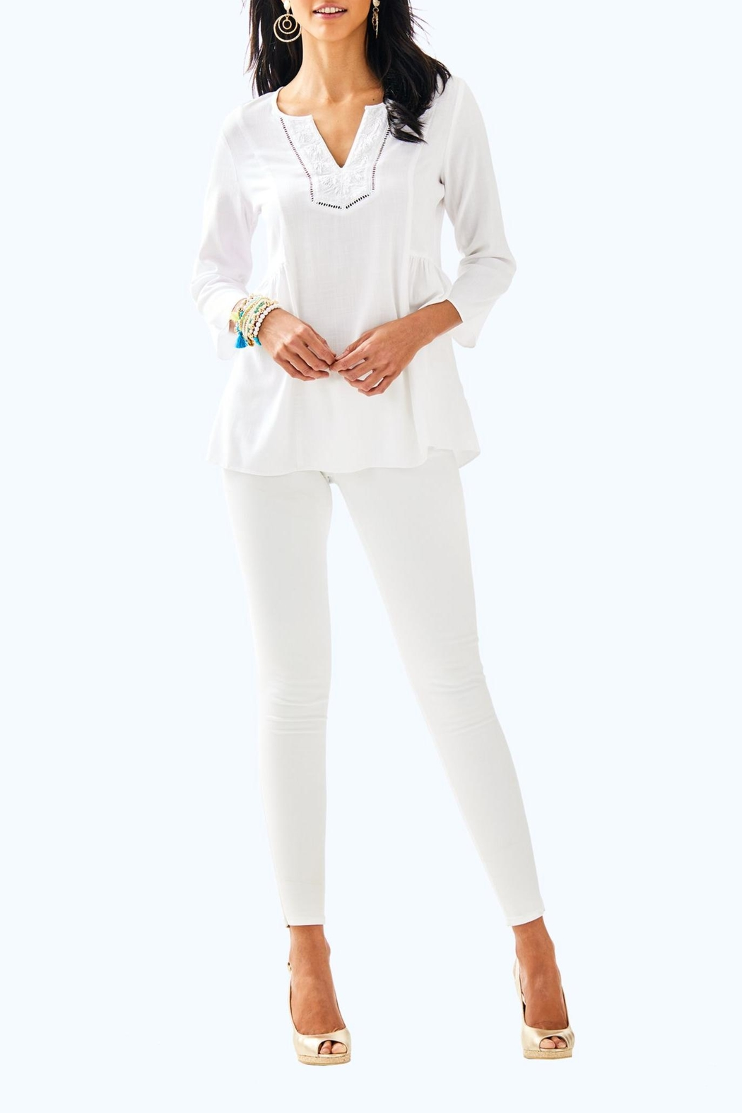 Lilly Pulitzer Lyndsea Tunic - Side Cropped Image