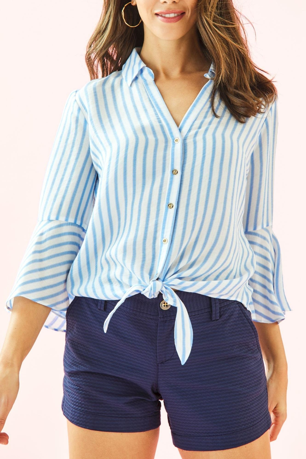 Lilly Pulitzer Lysa Tie-Front Top - Main Image