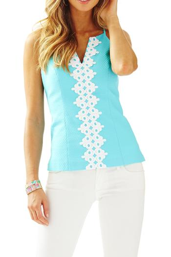 cac3ac23097a79 Lilly Pulitzer Magnolia Halter Top from Sandestin Golf and Beach Resort by  Island Clothiers — Shoptiques