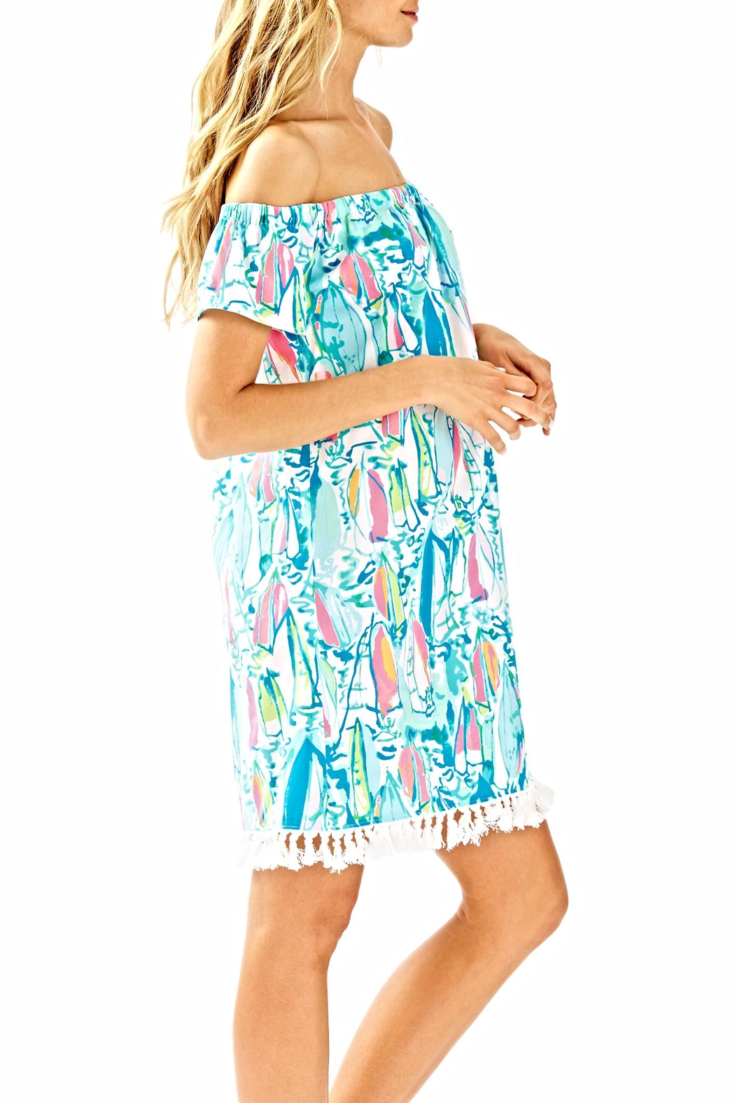 Lilly Pulitzer Marble Dress - Side Cropped Image