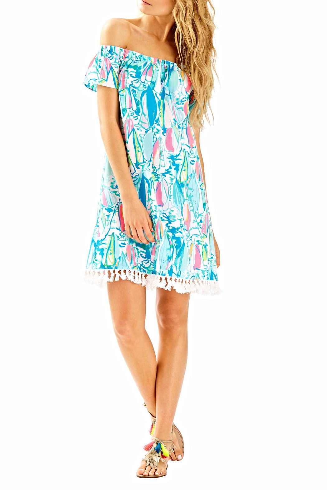 Lilly Pulitzer Marble Dress - Back Cropped Image