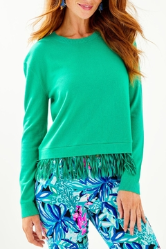 Lilly Pulitzer Marguerite Fringe Sweater - Product List Image