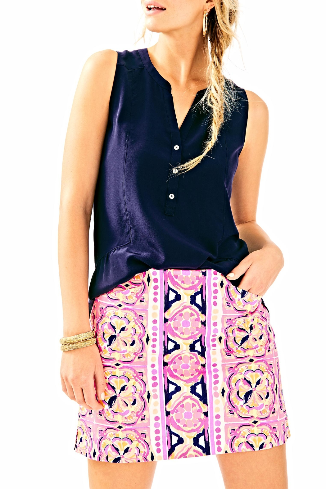 Lilly Pulitzer Marigold Skort - Front Cropped Image