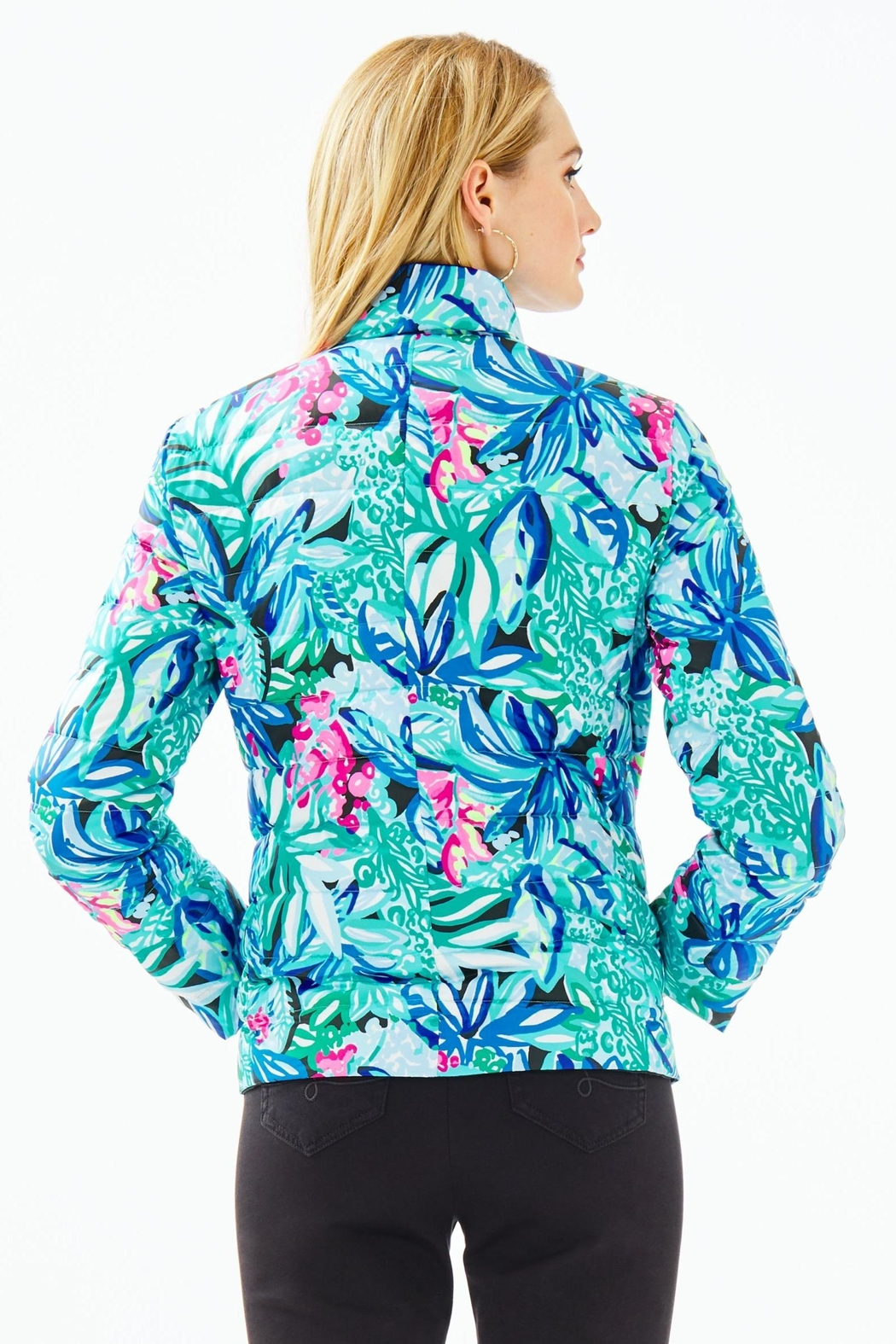 Lilly Pulitzer Marilee Reversible Puffer-Jacket - Side Cropped Image