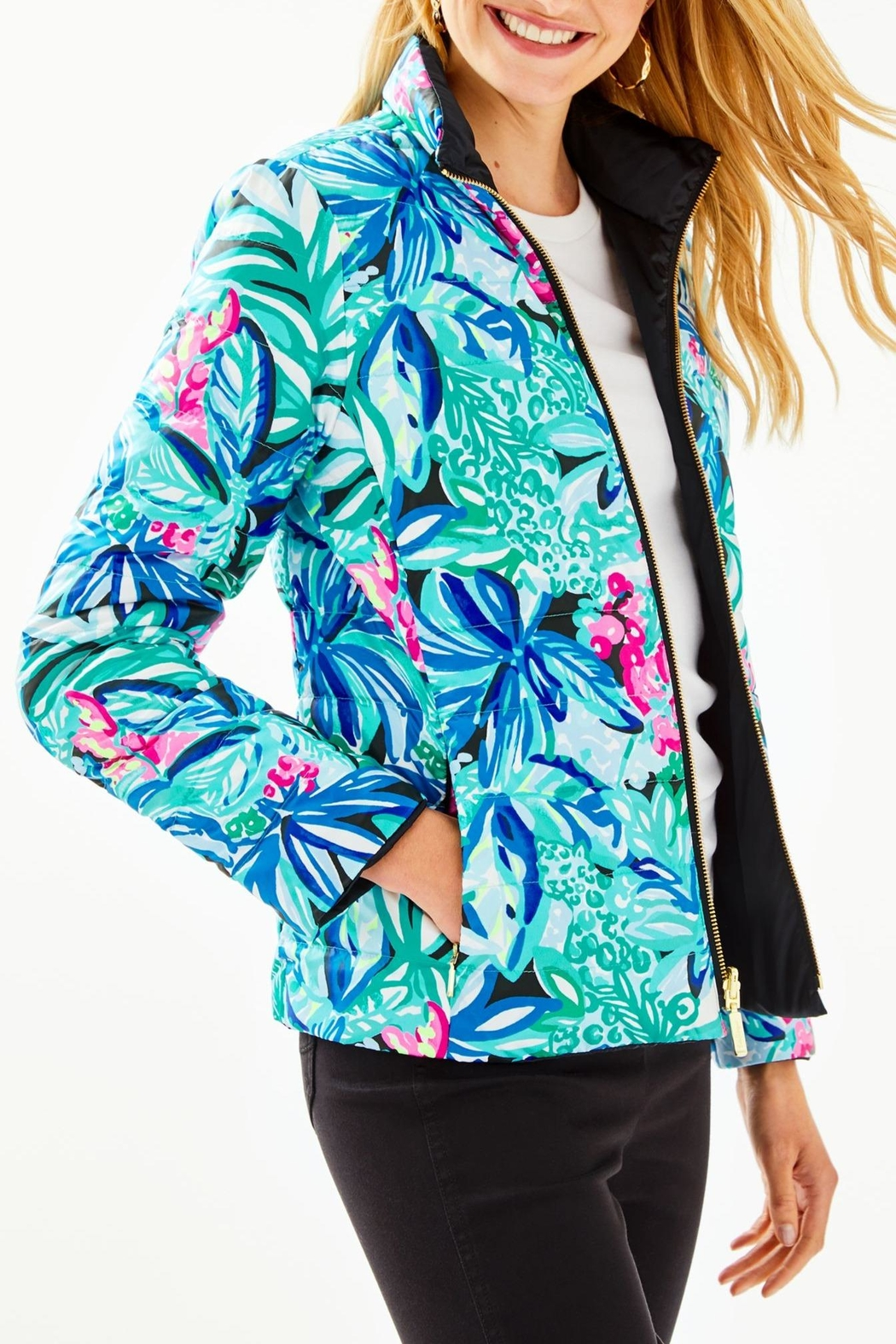 Lilly Pulitzer Marilee Reversible Puffer-Jacket - Main Image