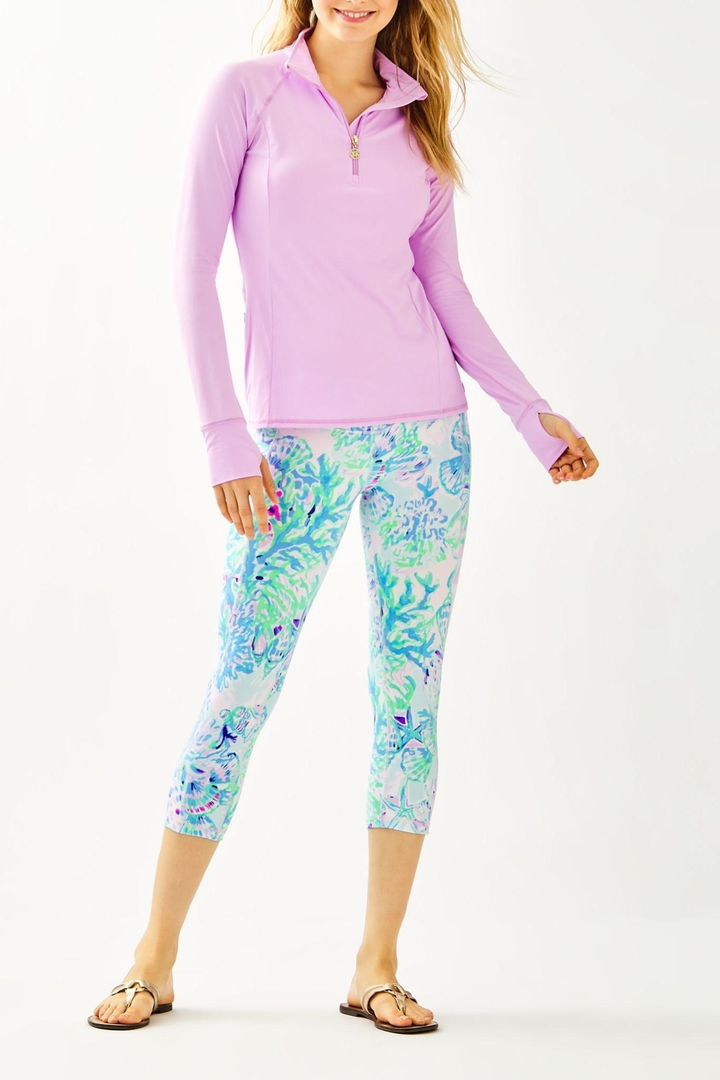 Lilly Pulitzer Luxletic Marion Popover - Side Cropped Image