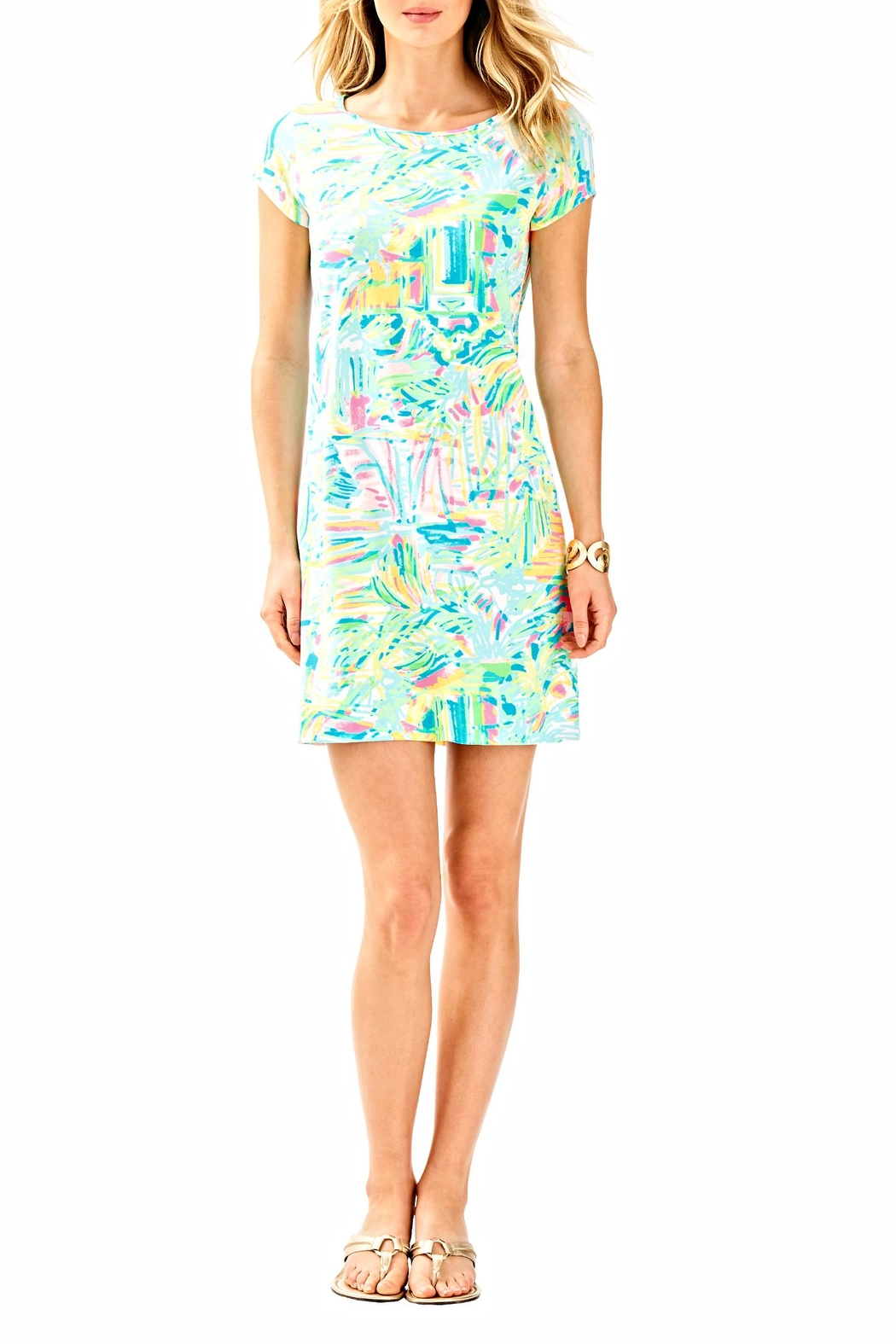 Lilly Pulitzer Short Sleeve Dress - Back Cropped Image