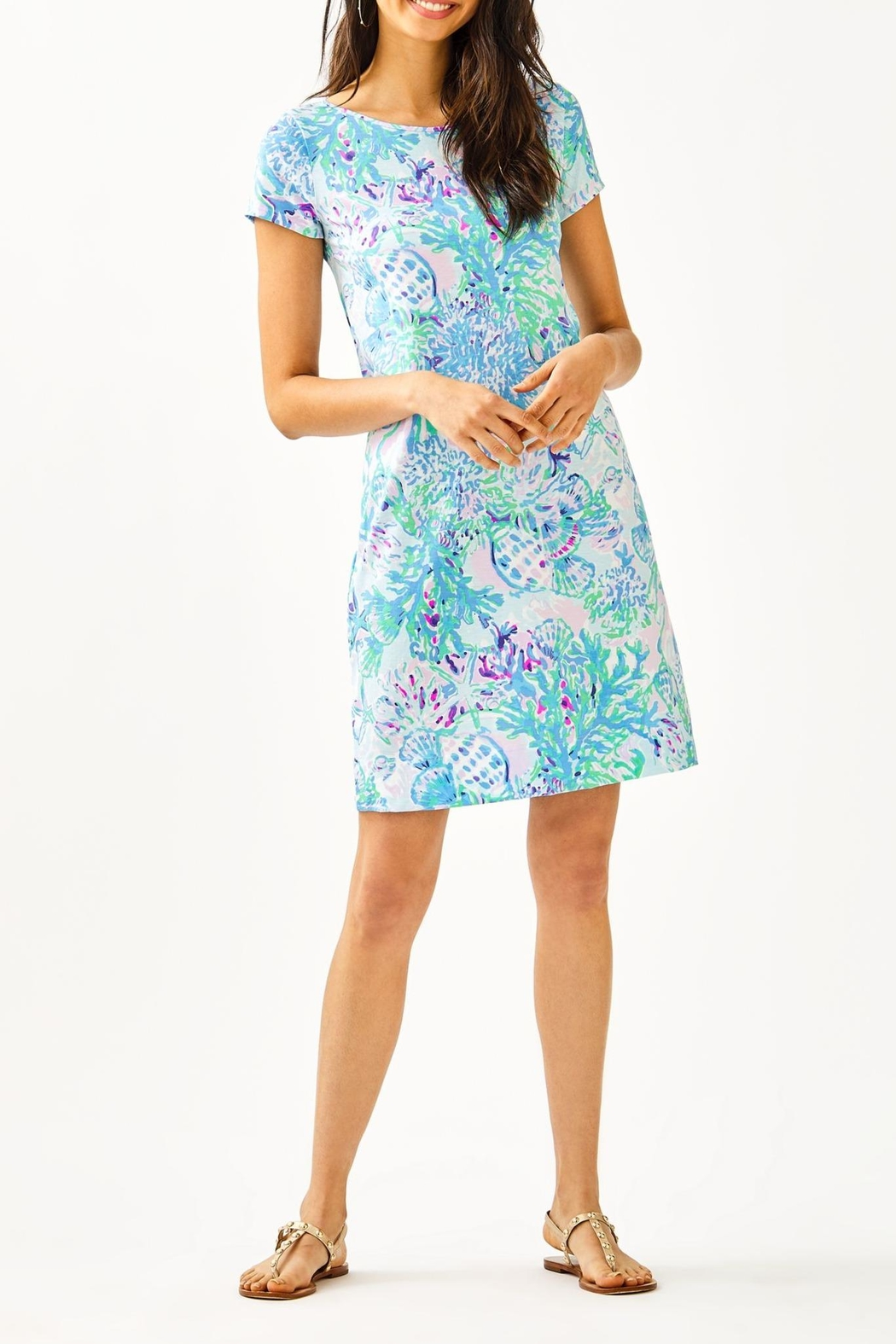 Lilly Pulitzer Marlowe T-Shirt Dress - Back Cropped Image