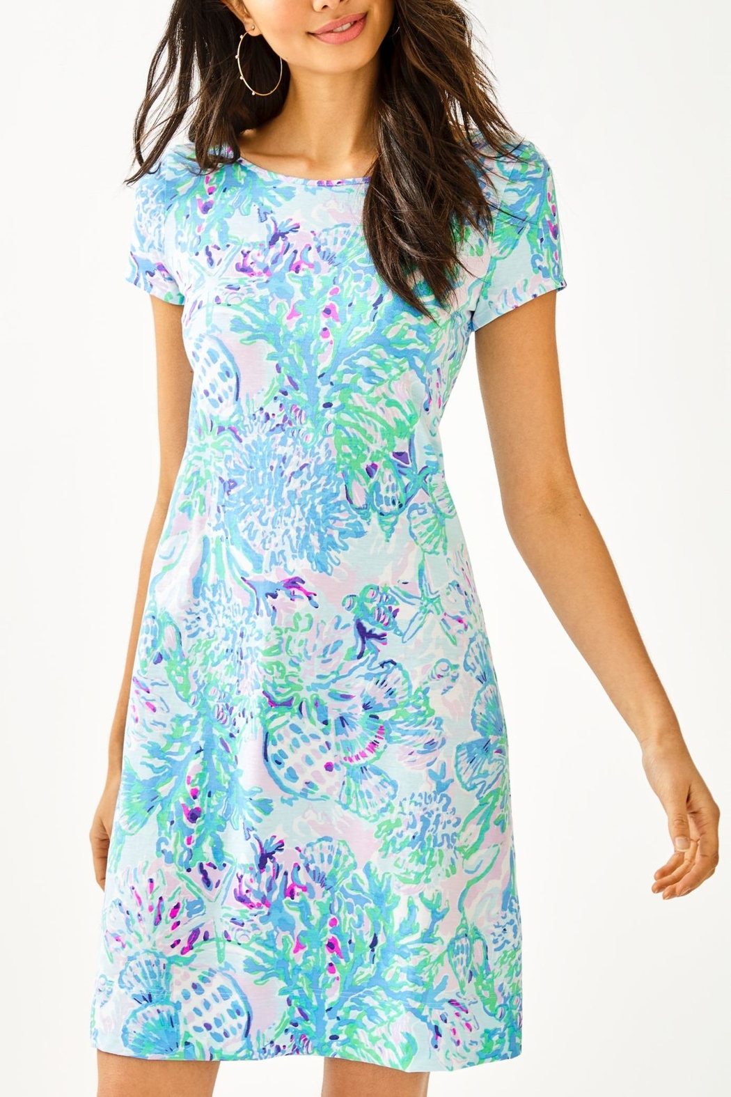 Lilly Pulitzer Marlowe T-Shirt Dress - Front Cropped Image