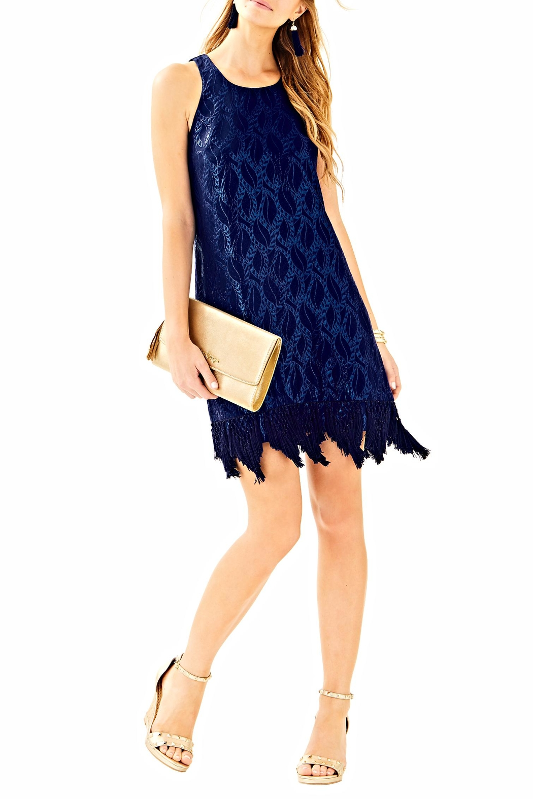 Lilly Pulitzer Marquette Shift Dress - Front Full Image