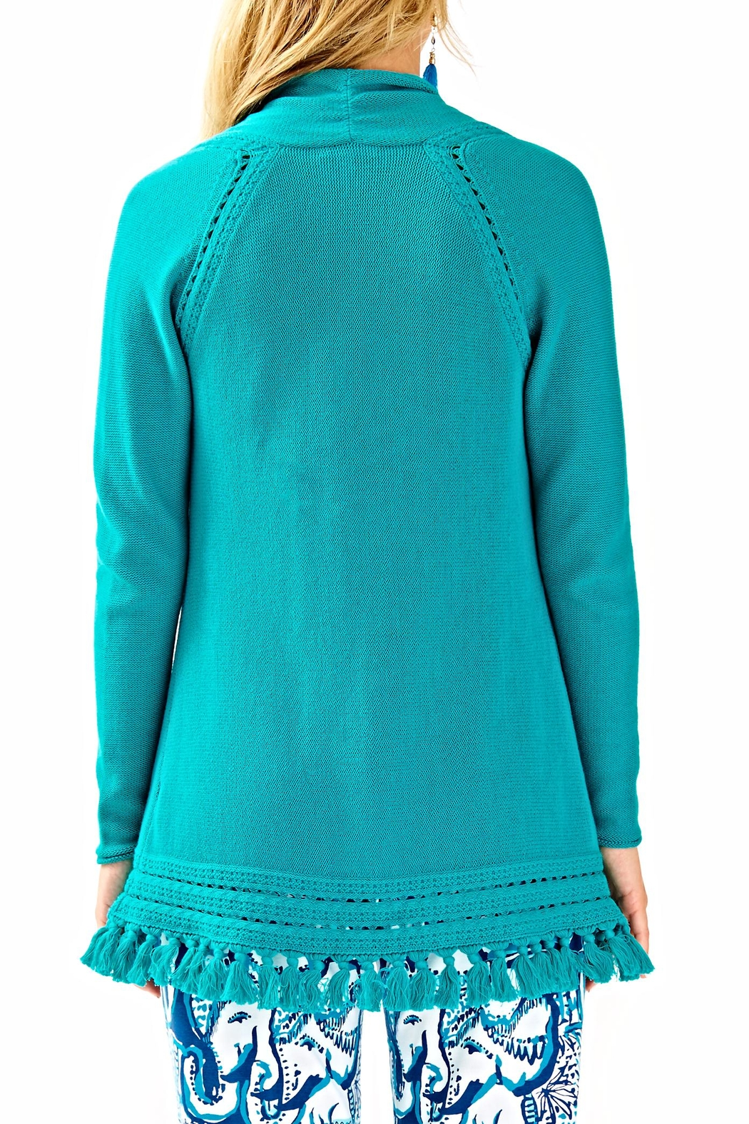 Lilly Pulitzer Martinique Fringe Sweater - Front Full Image