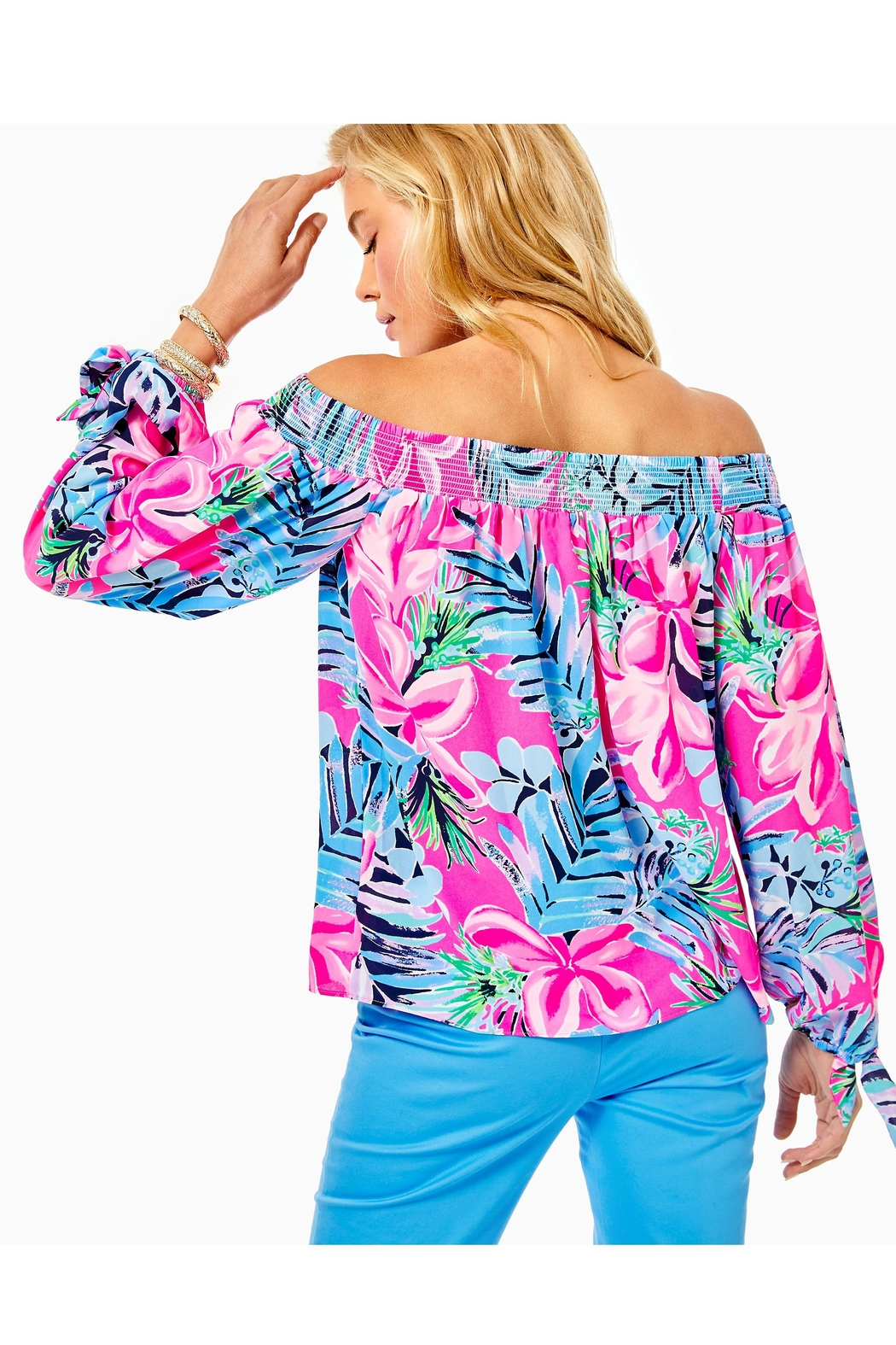 Lilly Pulitzer Maryellen Off-The-Shoulder Top - Front Full Image