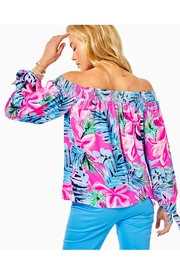 Lilly Pulitzer Maryellen Off-The-Shoulder Top - Front full body