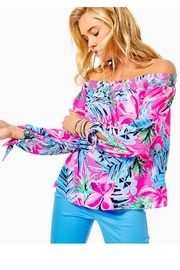 Lilly Pulitzer Maryellen Off-The-Shoulder Top - Product Mini Image