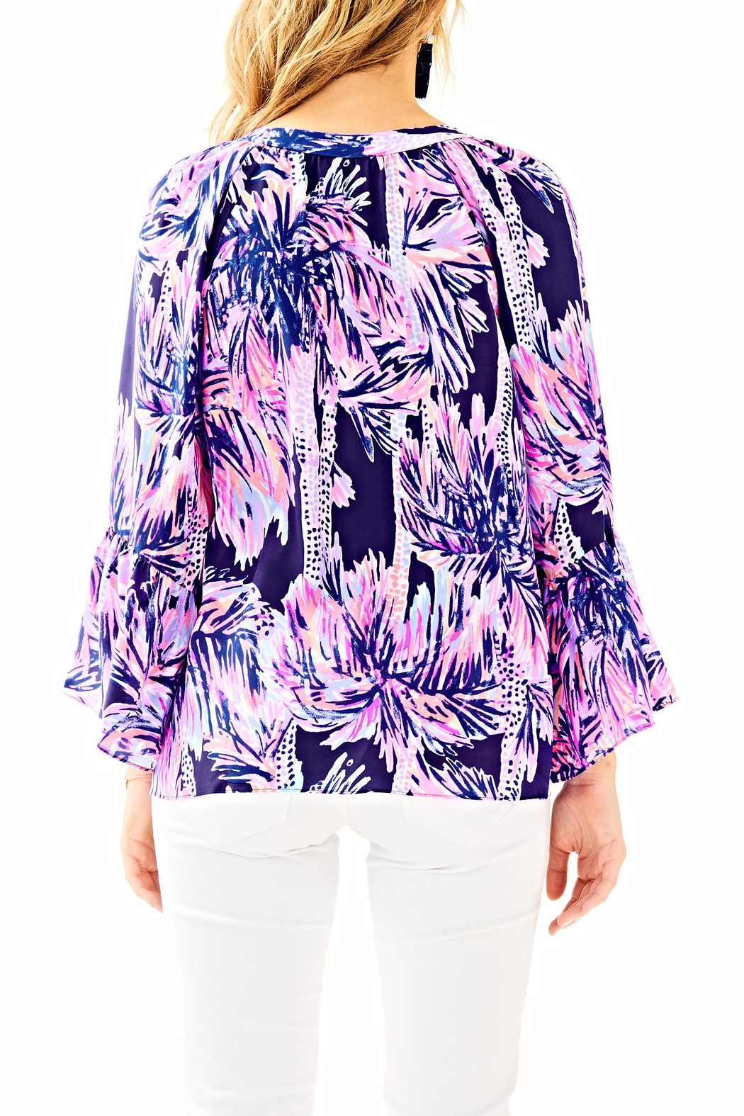 Lilly Pulitzer Matilda Silk Top - Front Full Image