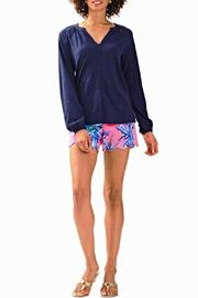 Lilly Pulitzer Meg Navy Top - Product Mini Image