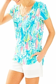 Lilly Pulitzer V-neck Patterned Tee - Product Mini Image