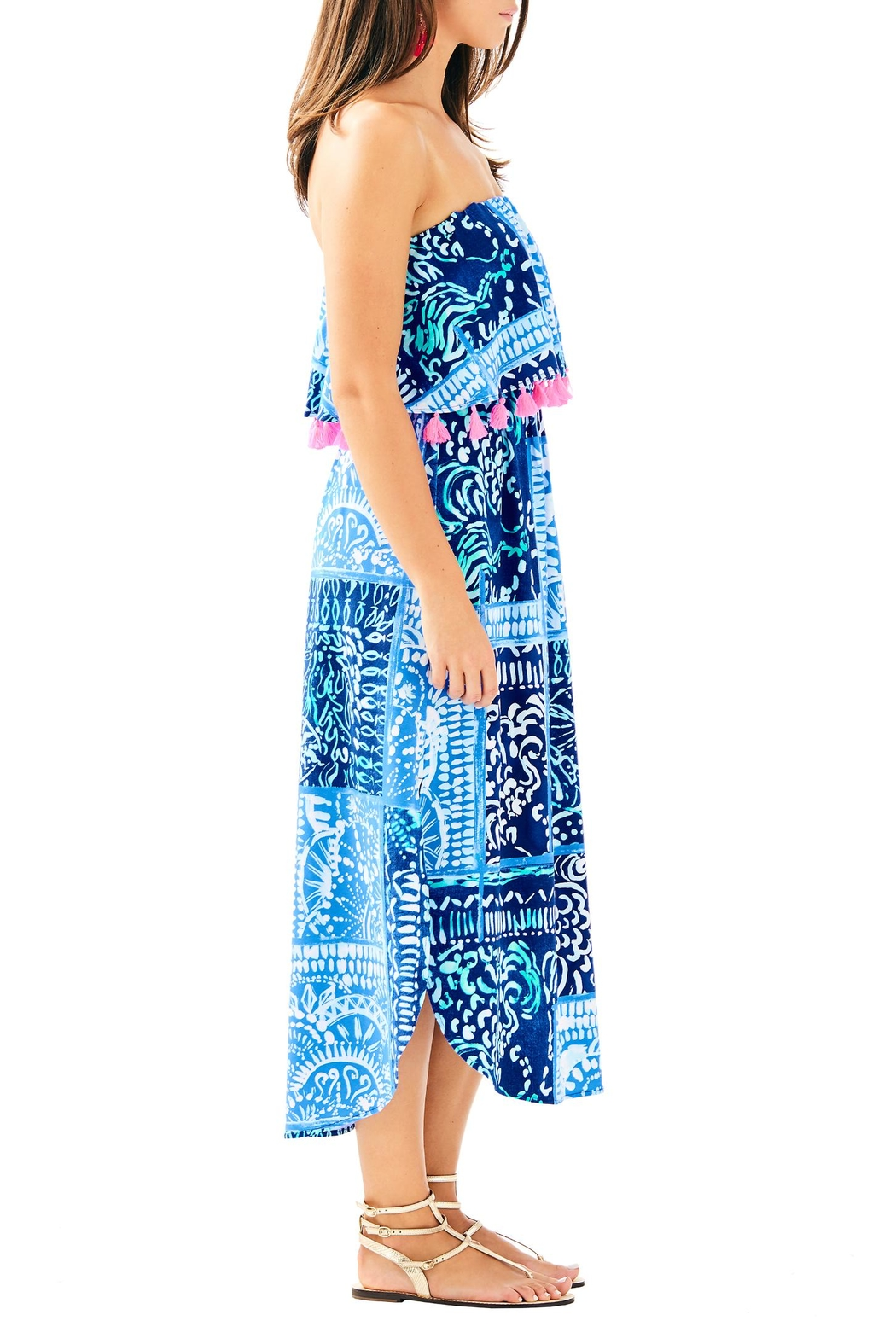 Lilly Pulitzer Meridian Midi Dress - Side Cropped Image