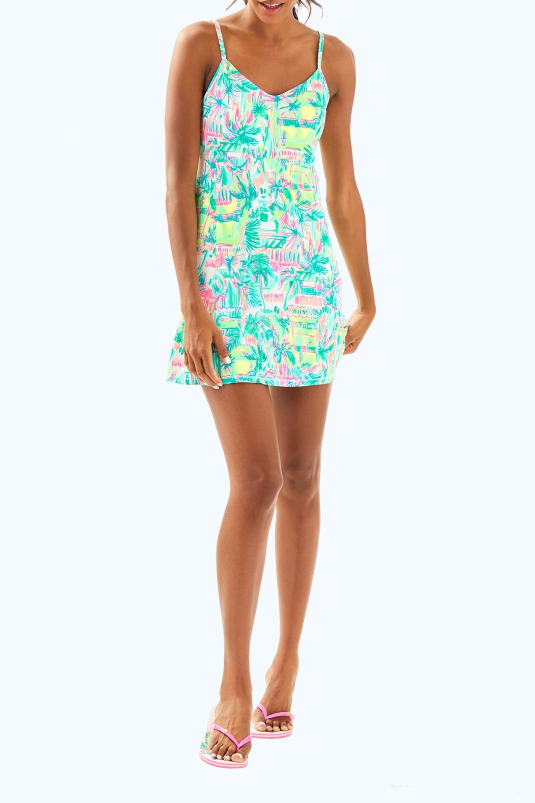 Lilly Pulitzer Adelia Tennis Dress - Back Cropped Image