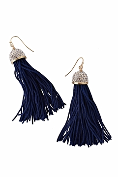 Lilly Pulitzer Midnight Tassel Earrings - Alternate List Image