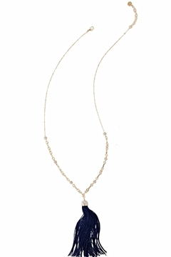 Lilly Pulitzer Midnight Tassel Necklace - Alternate List Image