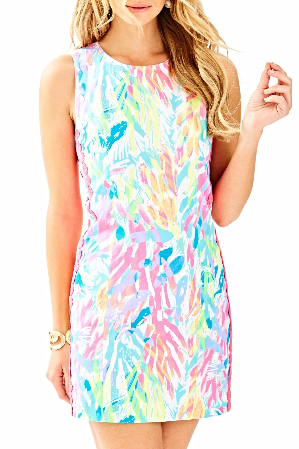 Lilly Pulitzer Mila Shift Dress - Front Cropped Image