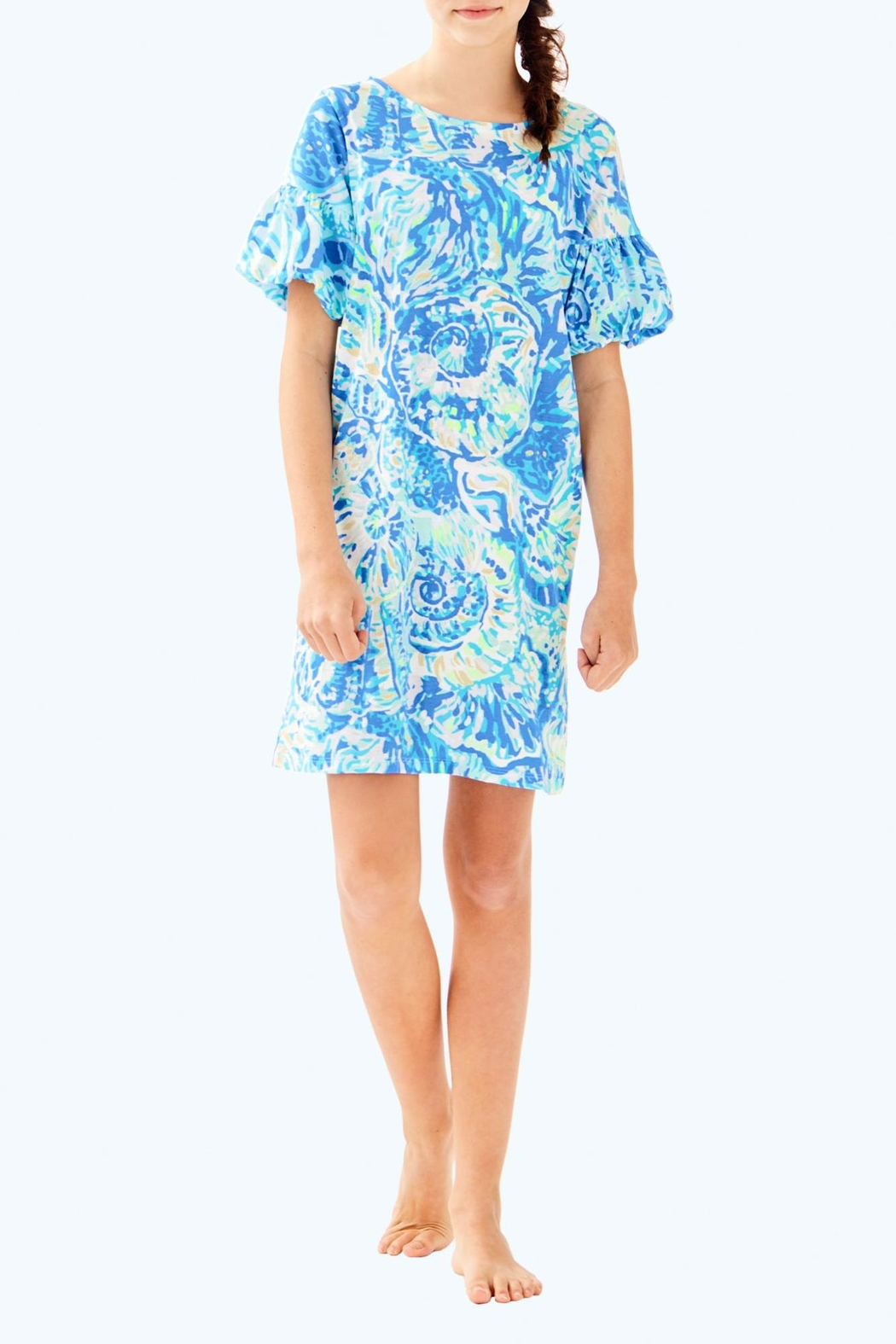 Lilly Pulitzer Mini Lindell Dress - Side Cropped Image