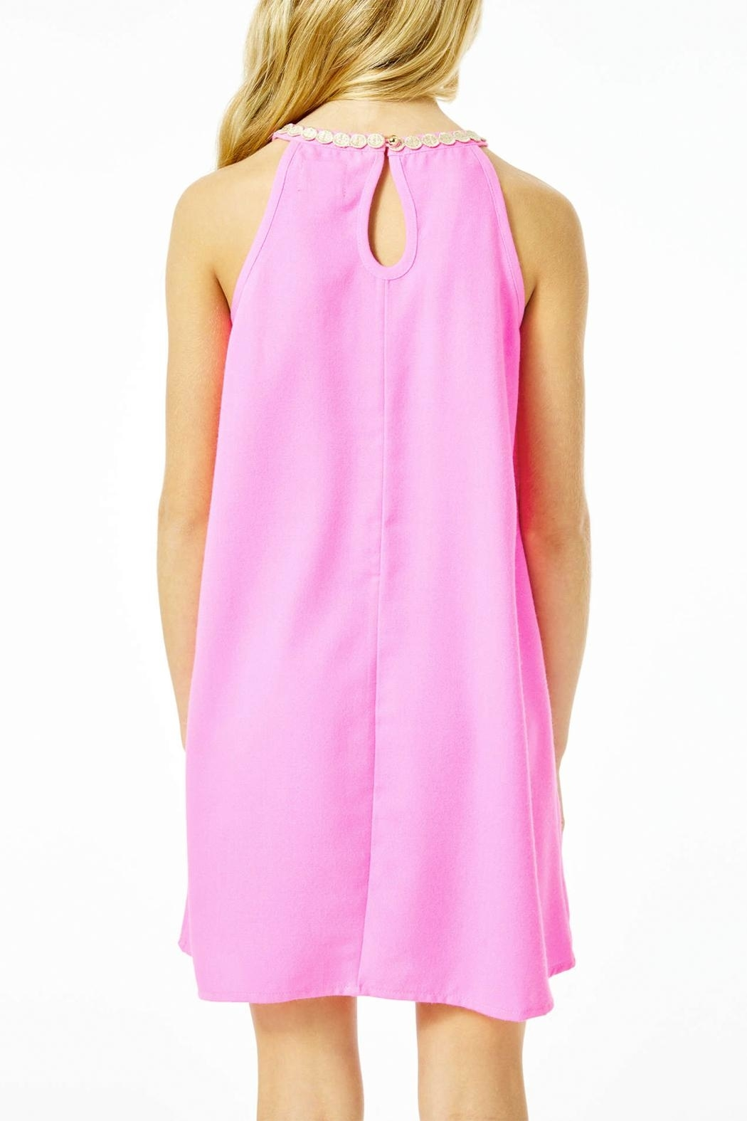 Lilly Pulitzer Mini Pearl Shift-Dress - Side Cropped Image