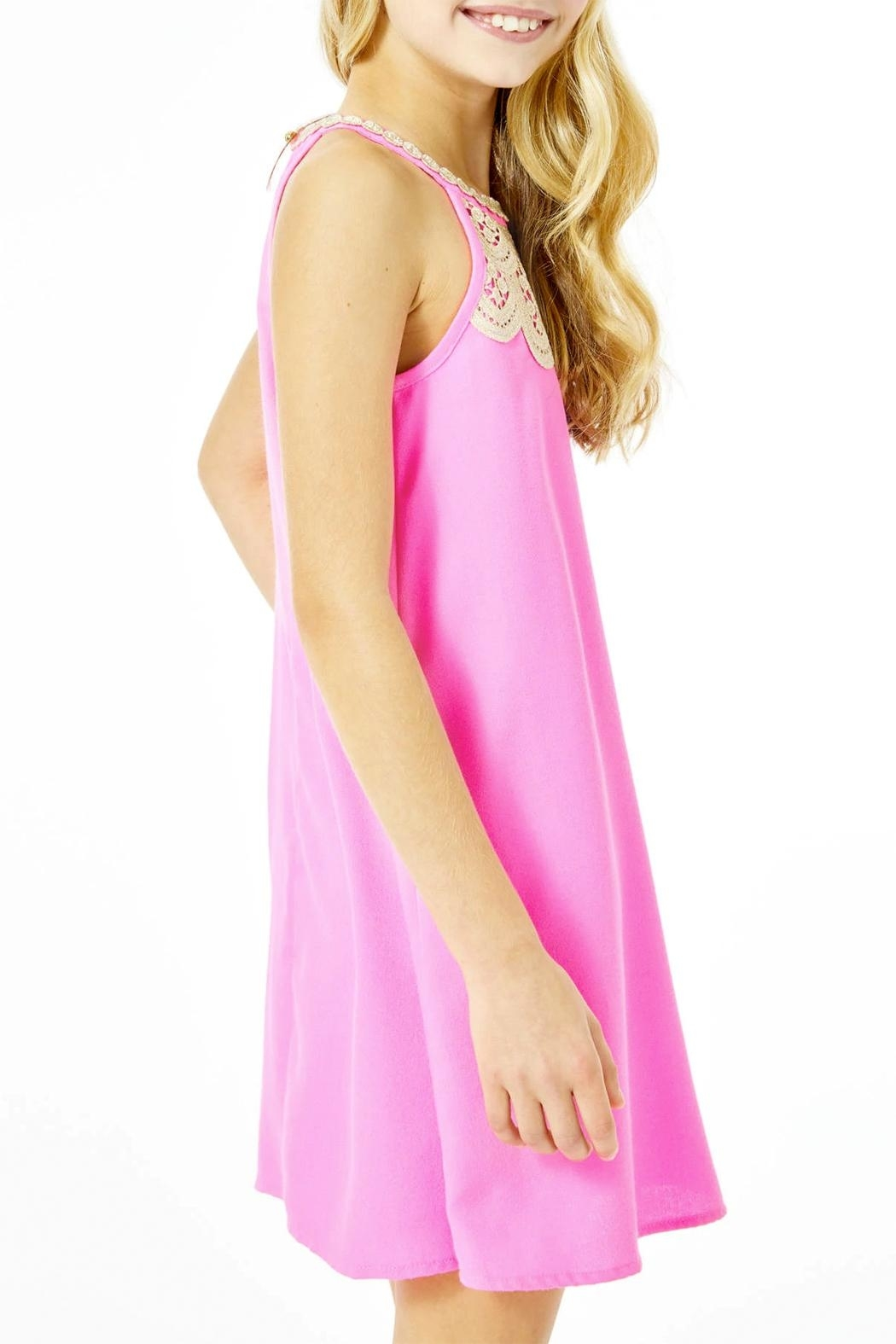 Lilly Pulitzer Mini Pearl Shift-Dress - Back Cropped Image