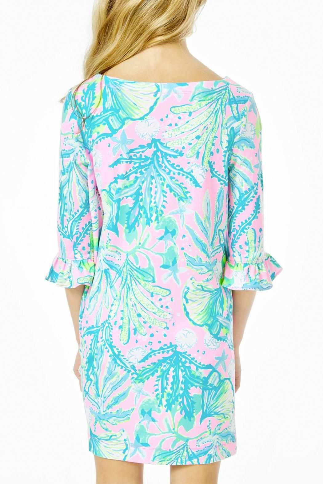 Lilly Pulitzer Mini Sophie Ruffle Dress Upf50+ - Side Cropped Image