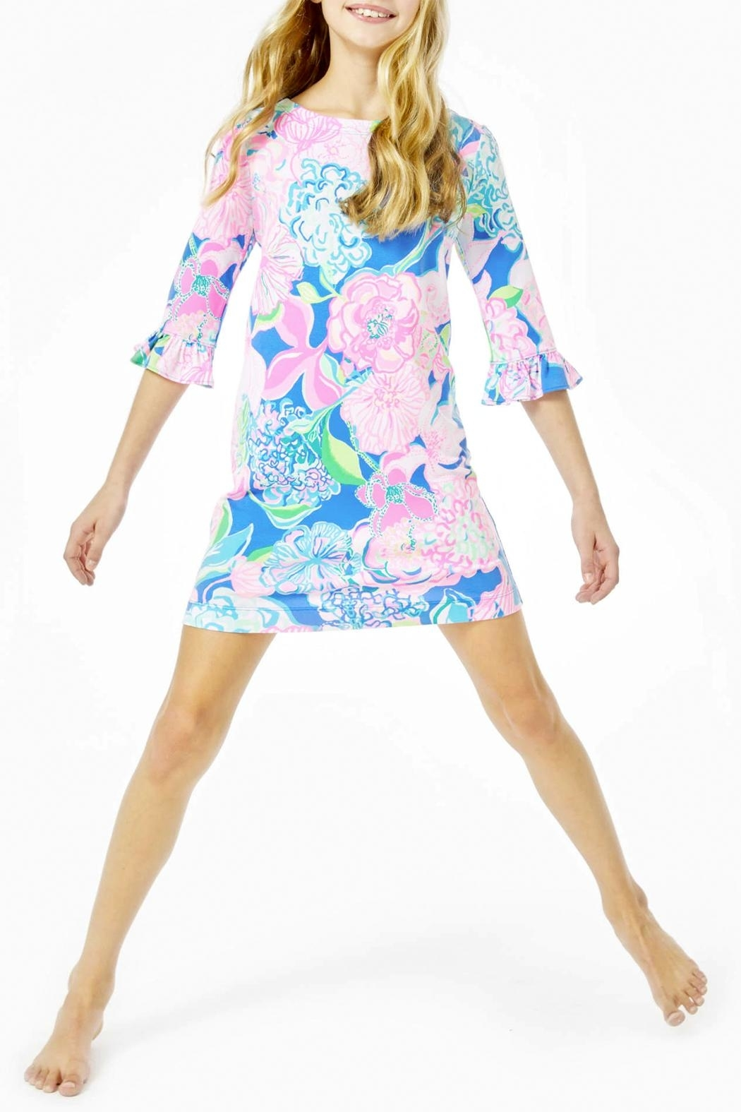 Lilly Pulitzer Mini Sophie Ruffle Dress Upf-50+ - Side Cropped Image