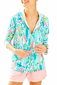 Shoptiques Product: Colorful Printed Hoodie