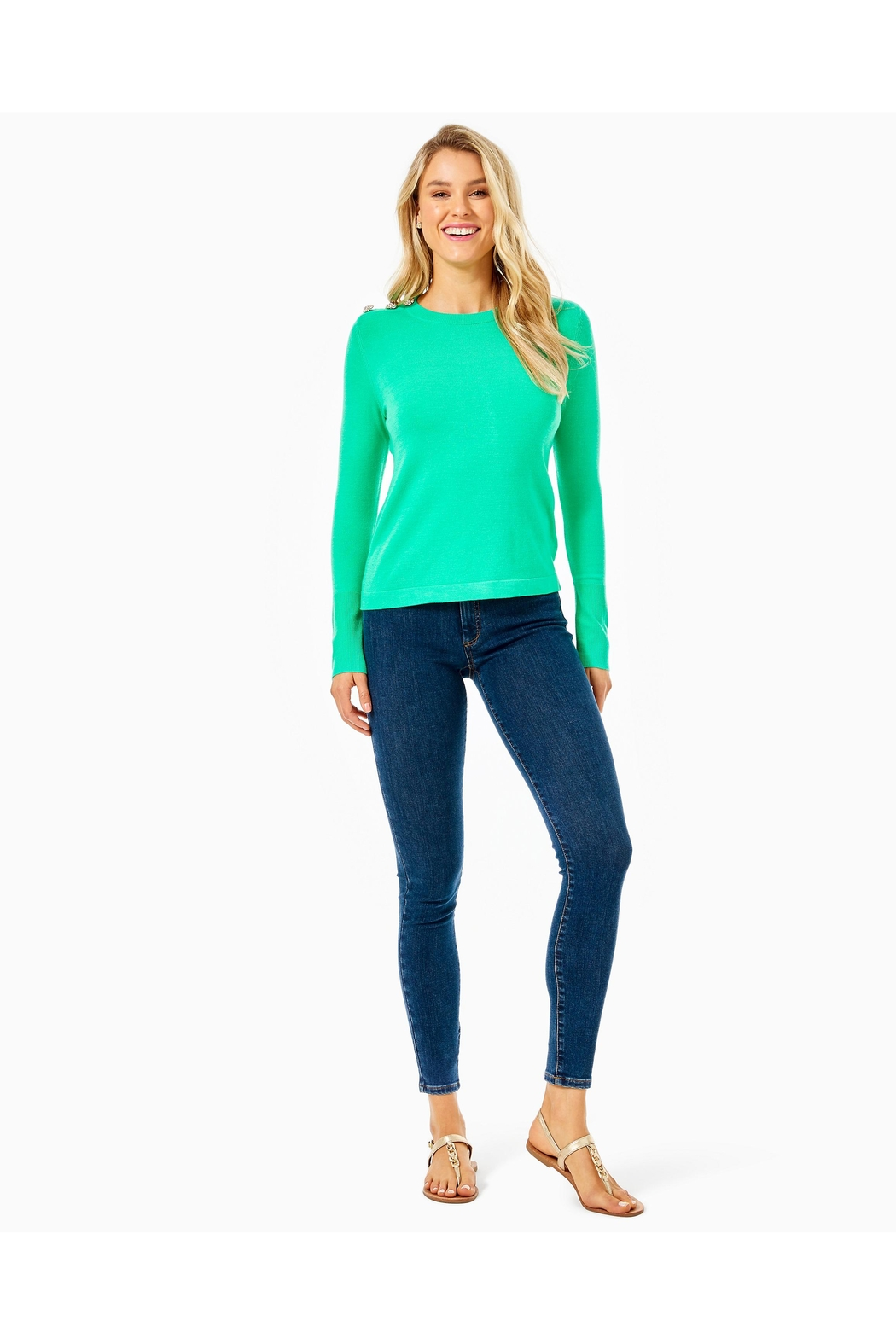 Lilly Pulitzer Morgen Sweater - Back Cropped Image