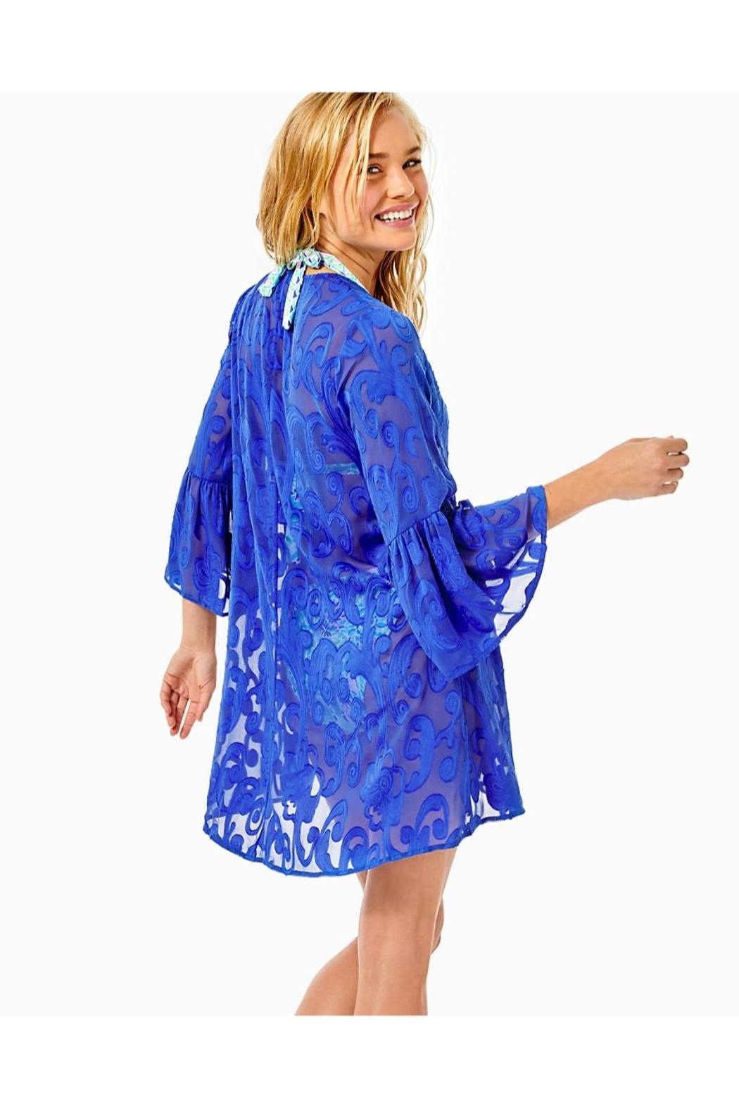 Lilly Pulitzer Motley Open Cover-Up - Front Full Image
