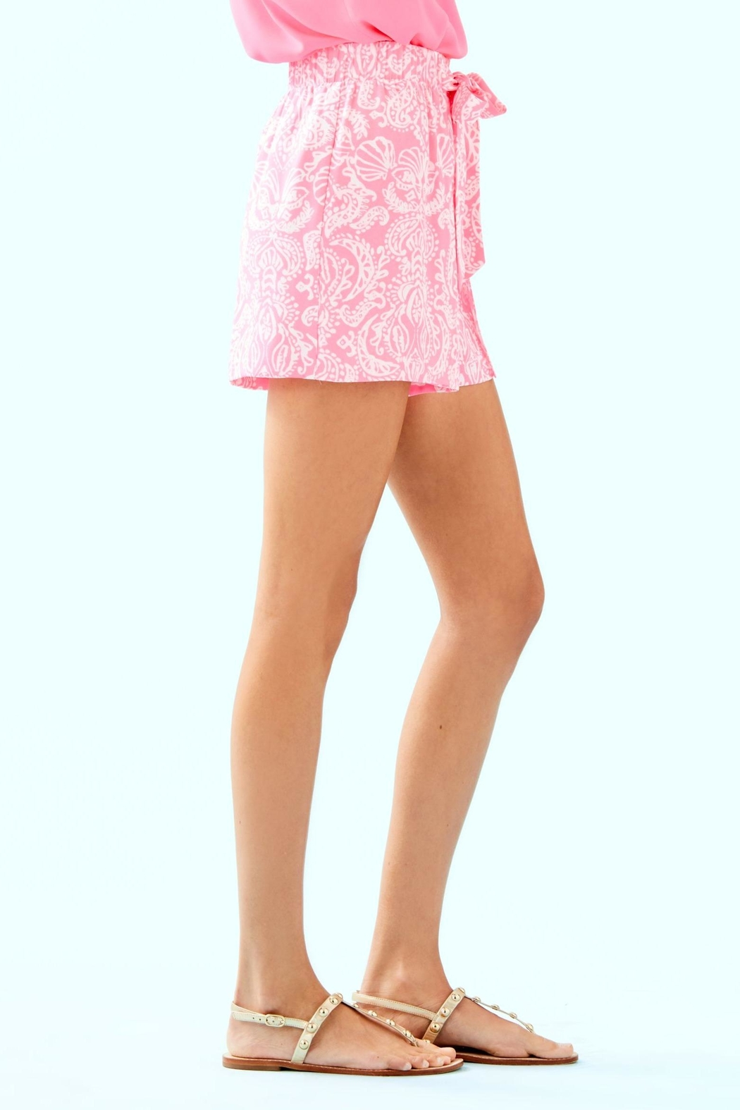 Lilly Pulitzer Mylee Tie-Front Short - Side Cropped Image
