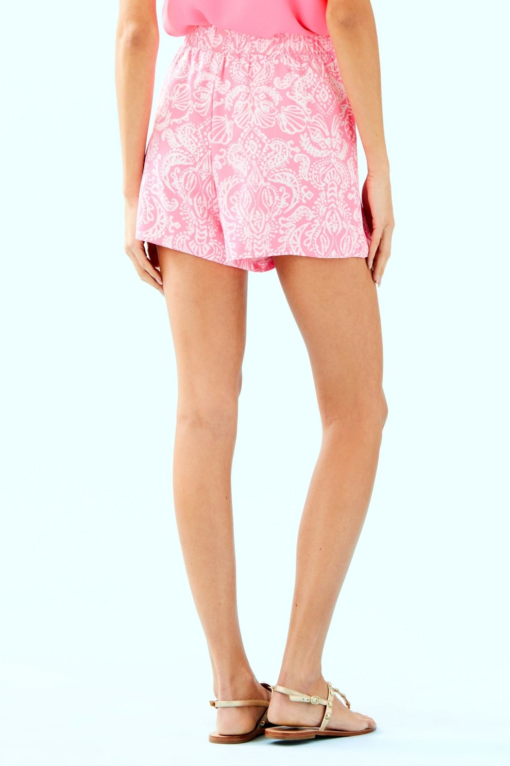 Lilly Pulitzer Mylee Tie-Front Short - Front Full Image