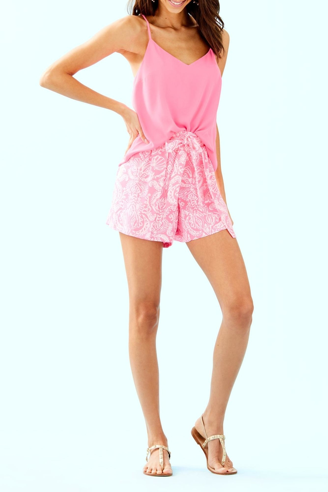 Lilly Pulitzer Mylee Tie-Front Short - Back Cropped Image