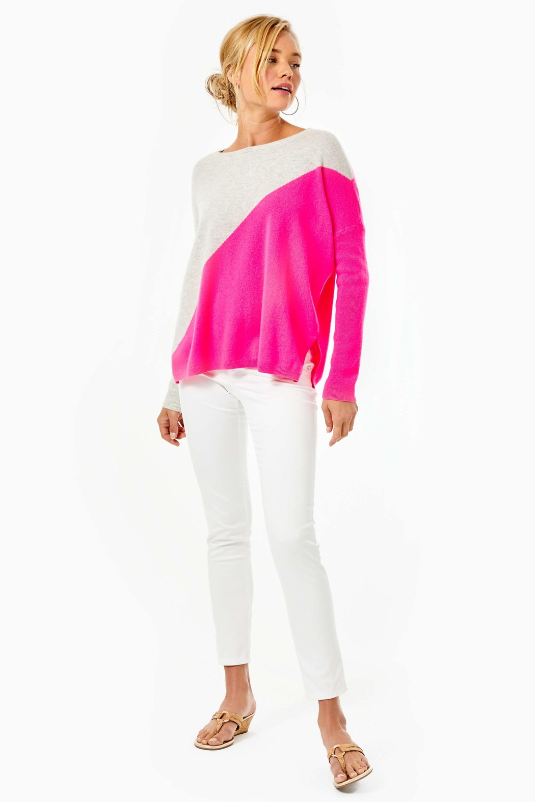Lilly Pulitzer Napa Cashmere Sweater - Side Cropped Image