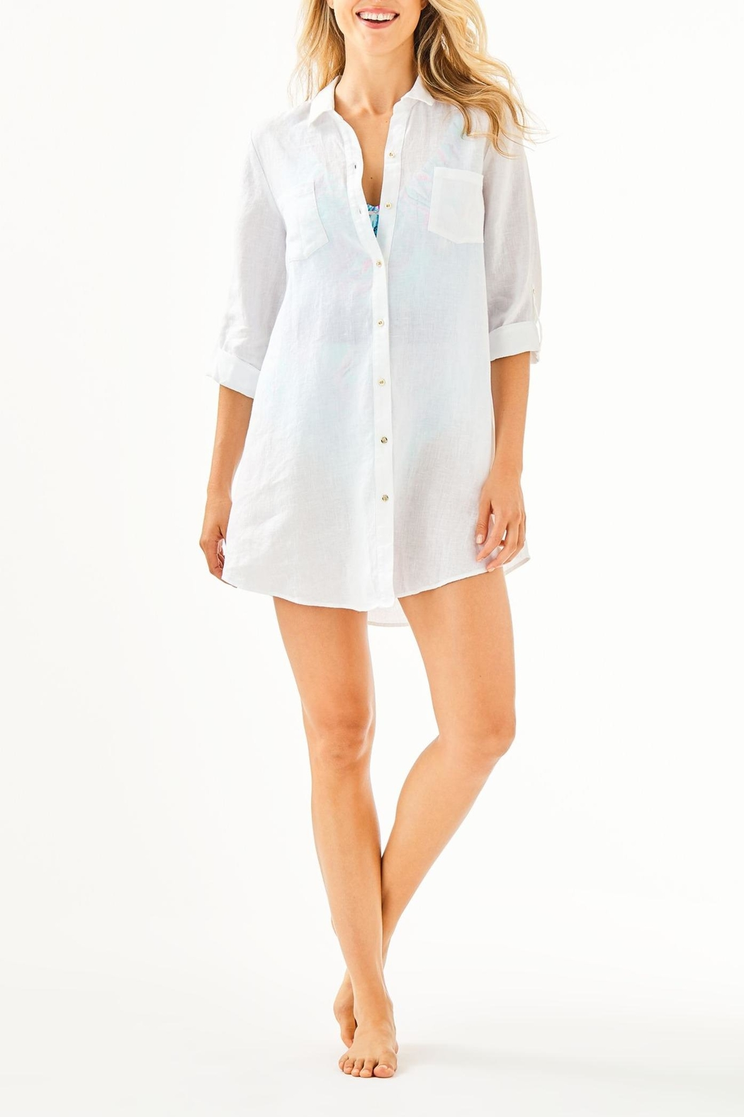 Lilly Pulitzer Natalie Coverup - Side Cropped Image