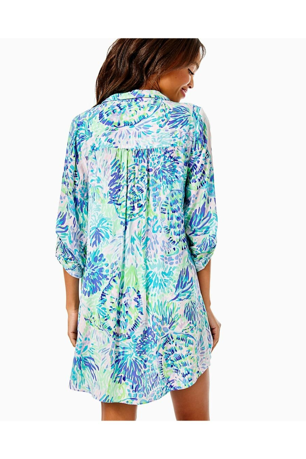 Lilly Pulitzer Natalie Shirtdress Cover-Up - Front Full Image