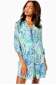 Lilly Pulitzer Natalie Shirtdress Cover-Up - Product List Image