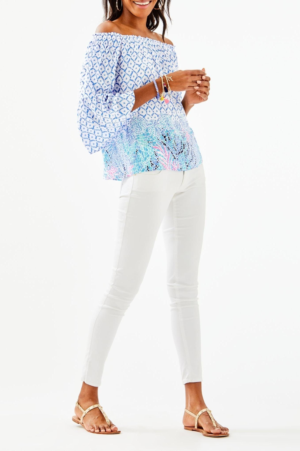Lilly Pulitzer Nevie Top - Side Cropped Image