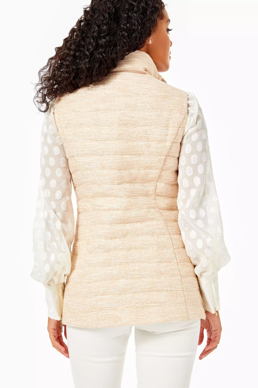 Lilly Pulitzer Noella Puffer Vest - Front Full Image