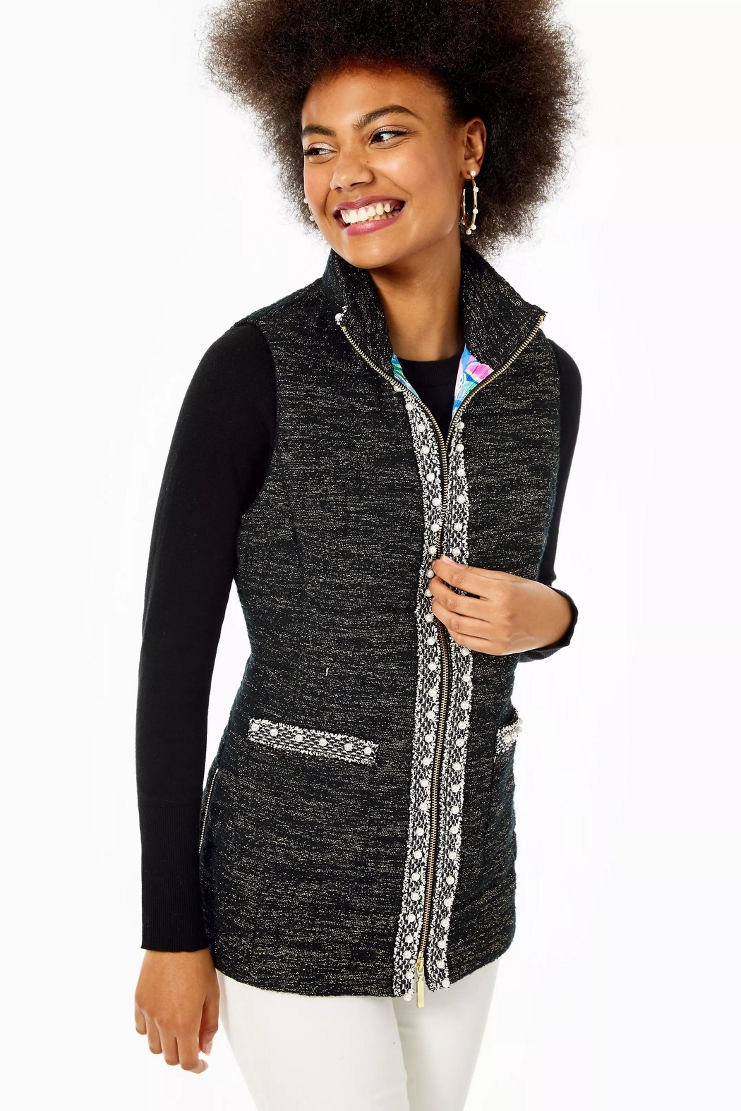 Lilly Pulitzer Noella Puffer Vest - Main Image
