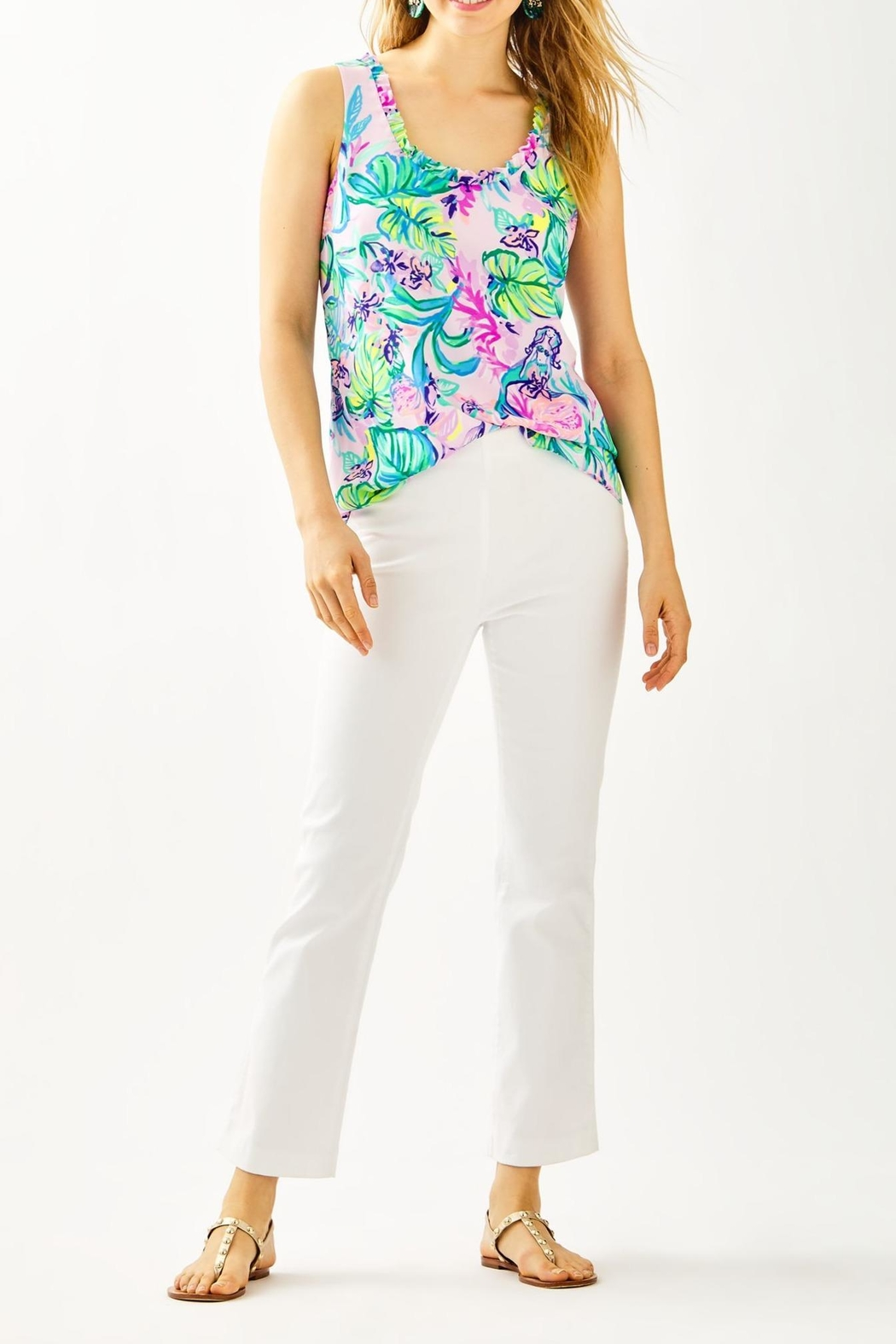 Lilly Pulitzer Ocean Cay Pant - Back Cropped Image