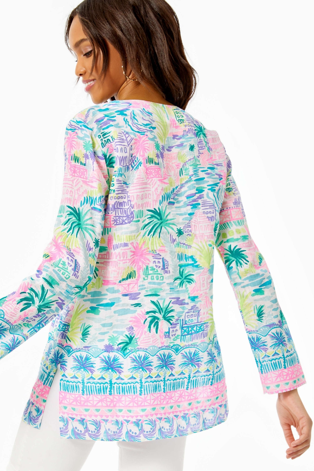 Lilly Pulitzer Ocean Cove Tunic - Front Full Image