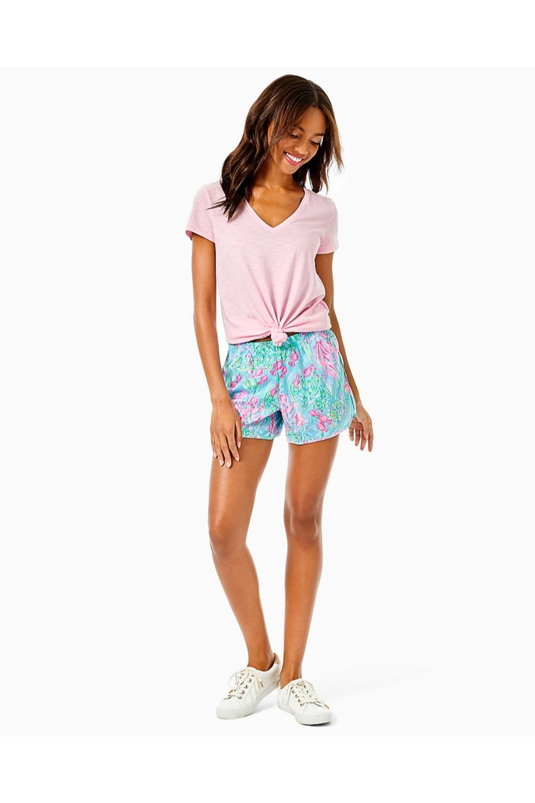 Lilly Pulitzer Ocean Trail Short - Back Cropped Image