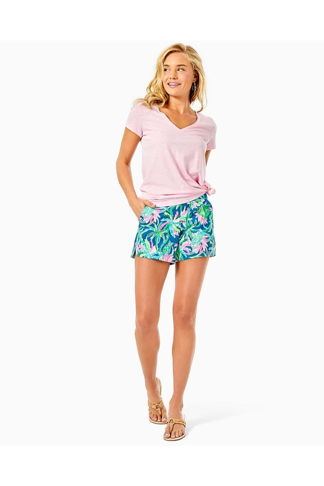 Lilly Pulitzer Ocean View Short - Back Cropped Image
