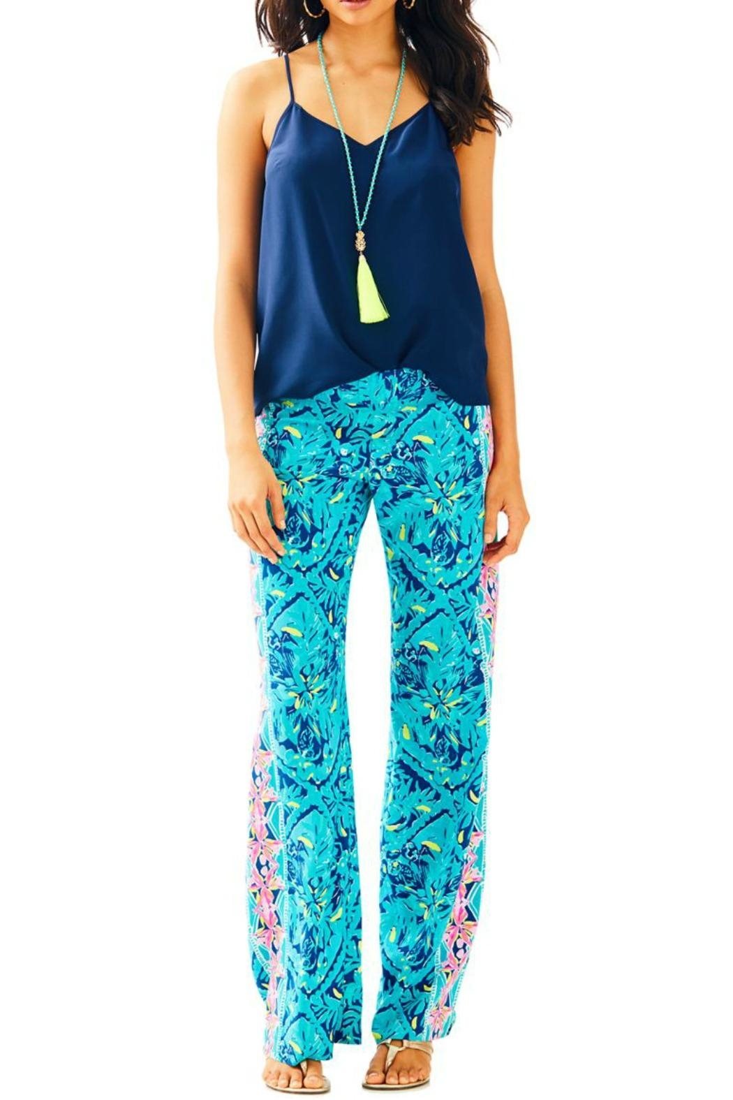 Lilly Pulitzer Palazzo Pant - Front Cropped Image